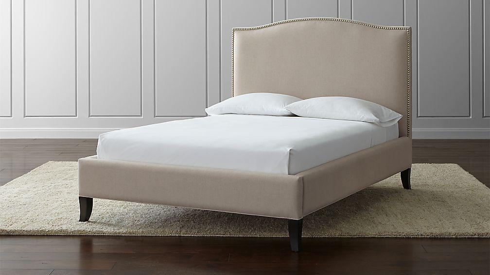 Colette Upholstered Full Bed Origin Navy Crate And Barrel