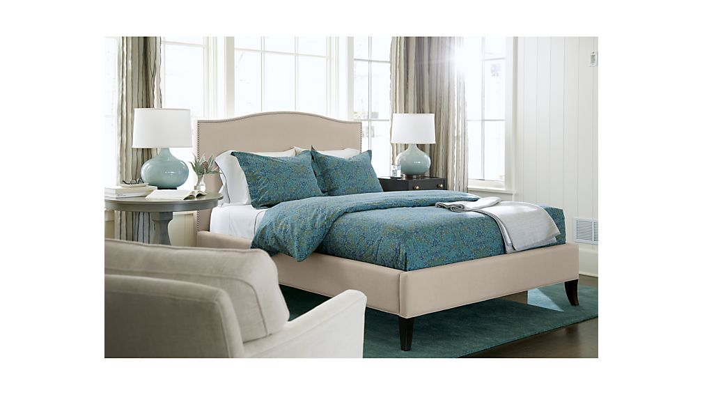 colette upholstered king bed origin natural crate and barrel