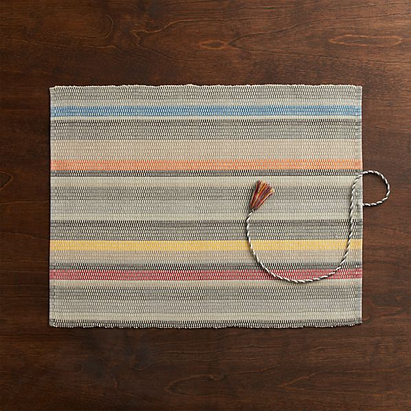 Colorido Grey Placemat