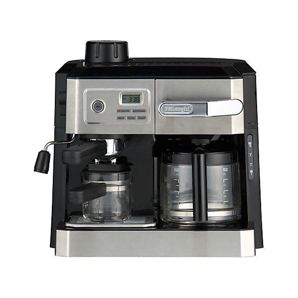 DeLonghi ® Combi 10 Cup Coffee Maker-4 Cup Espresso Maker