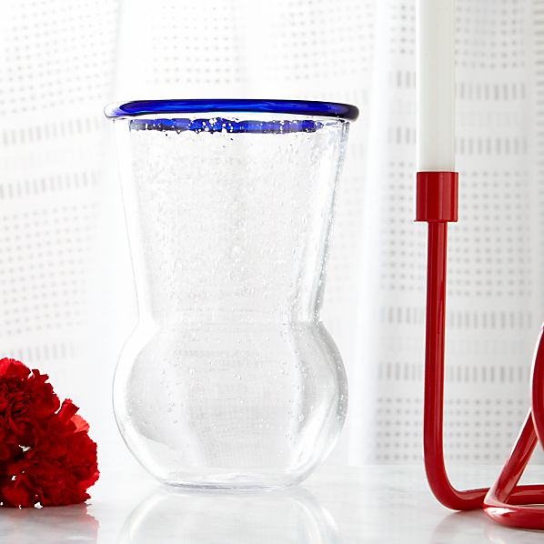 Como Bubbled Clear Vase