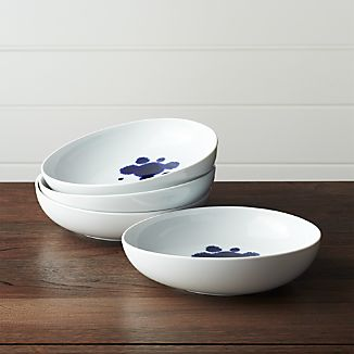 Set of 4 Como Splash Low Bowls