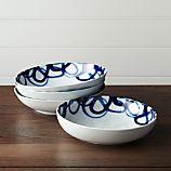 Set of 4 Como Swirl Low Bowls