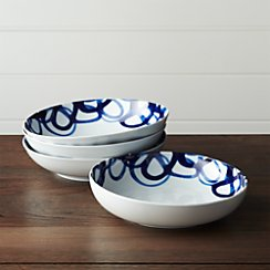 Set of 4 Como Swirl Low Bowls