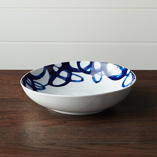 Como Swirl Low Bowl