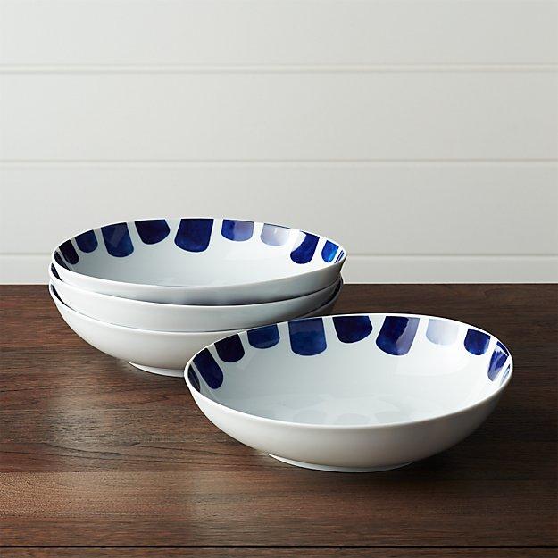 Set of 4 Como Tile Low Bowls