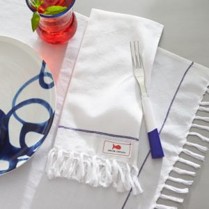 Como Placemat-Napkin with Fringe