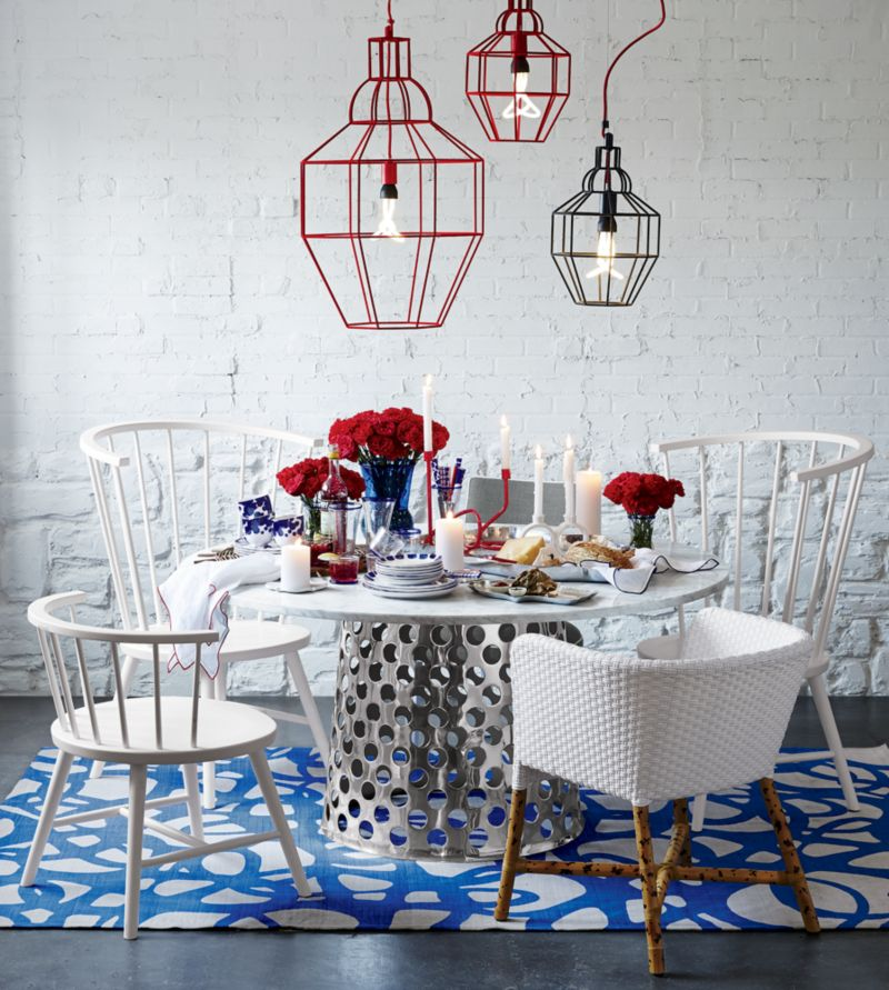 """Como 60"""" Round Marble Top Dining Table"""