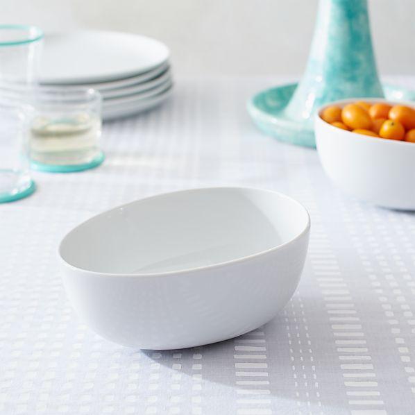 Como White Small Bowl