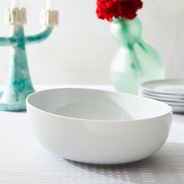 Como White Large Serving Bowl