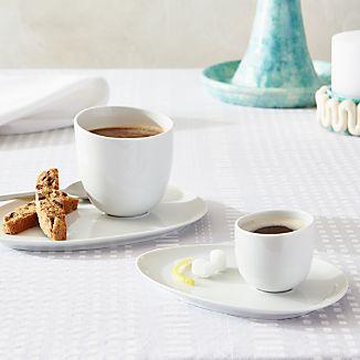 Como White Espresso Saucer