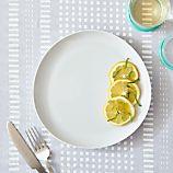 Como White Dinner Plate