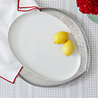 Como White Large Platter.