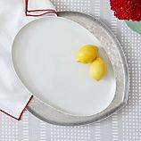 Como White Large Platter