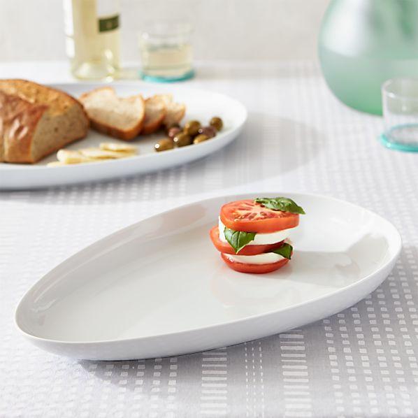 Como White Small Platter