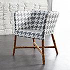 Como Grey and White Woven Chair.