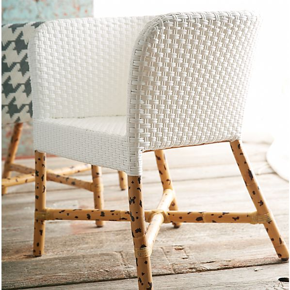 Como White Woven Chair In Clearance Furniture Crate And Barrel