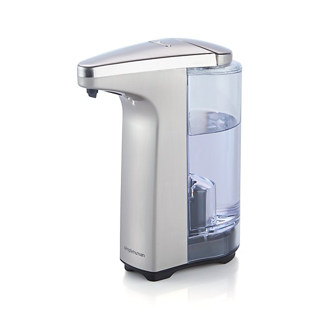 Simplehuman Brushed Sensor Soap Dispenser Crate And Barrel