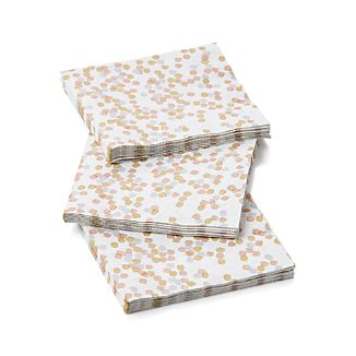 Set of 20 Confetti Metallic Paper Beverage Napkins