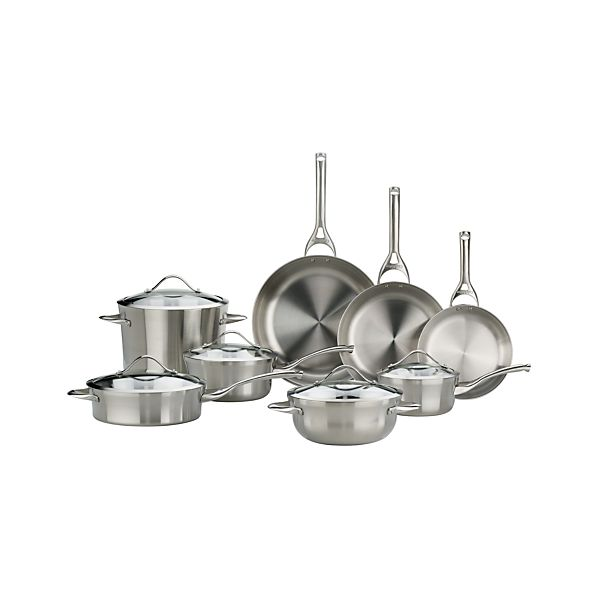 Calphalon ® Contemporary Stainless 13-Piece Cookware Set with Double Bonus