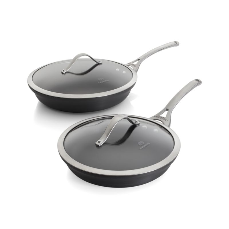 Calphalon Contemporary � Nonstick 2-Piece Frypan Set with Lids in ...