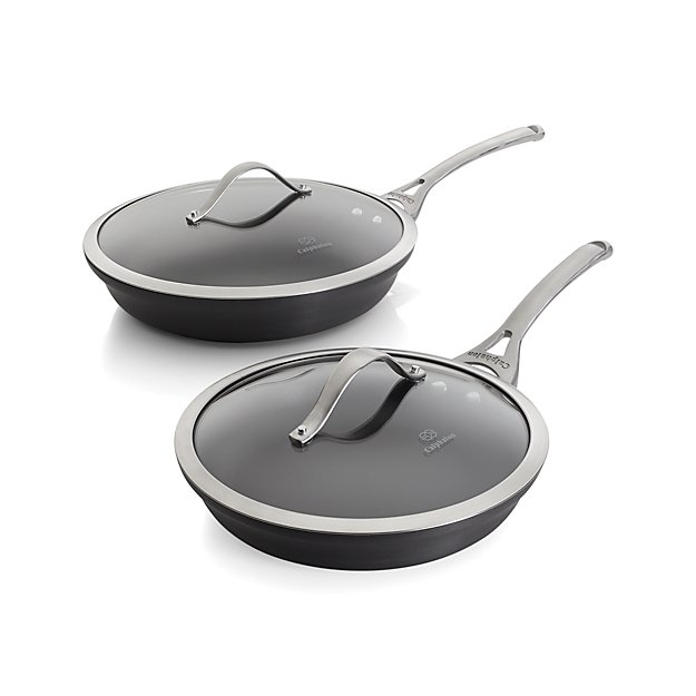 Calphalon Contemporary ™ Non-stick 2-Piece Fry Pan Set with Lids