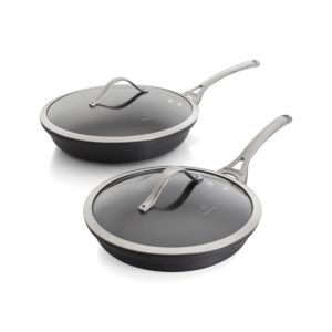 2-Piece Calphalon® Contemporary Nonstick Frypan Set with Lids