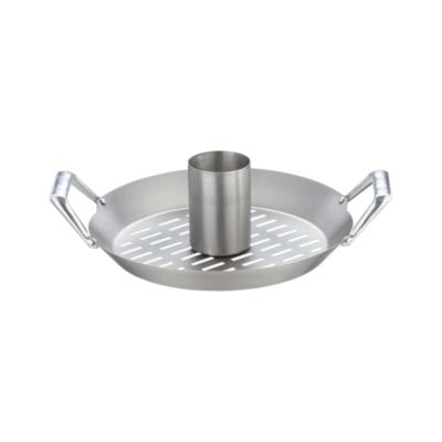 Stainless Steel Convertible Chicken Roaster with Wok