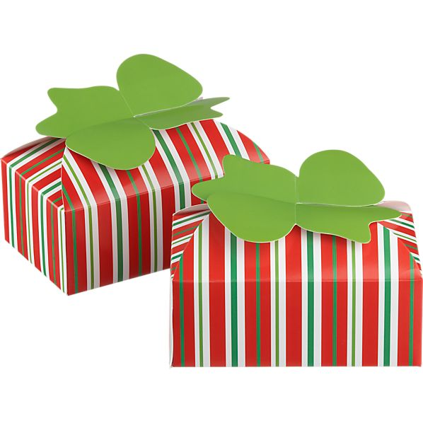 Set of 2 Cookie-Candy Boxes with Bows