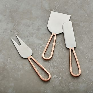Copper Cheese Knives