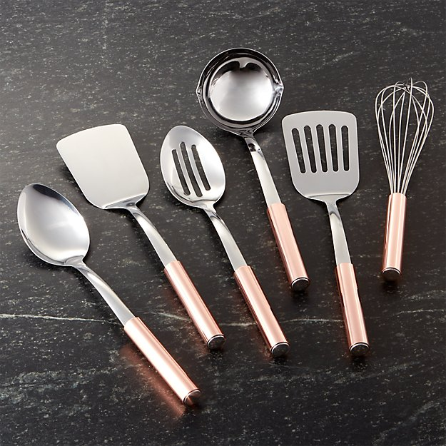 Copper Handled Utensils Set of Six
