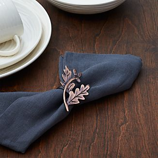 Copper Leaves Napkin Ring