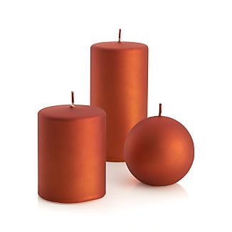 "Matte Copper 3.5"" Ball Candle"