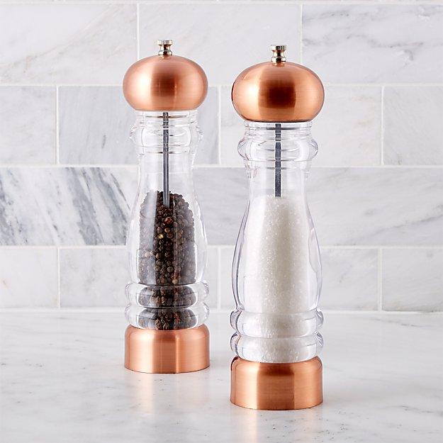 Copper Salt and Pepper Mills