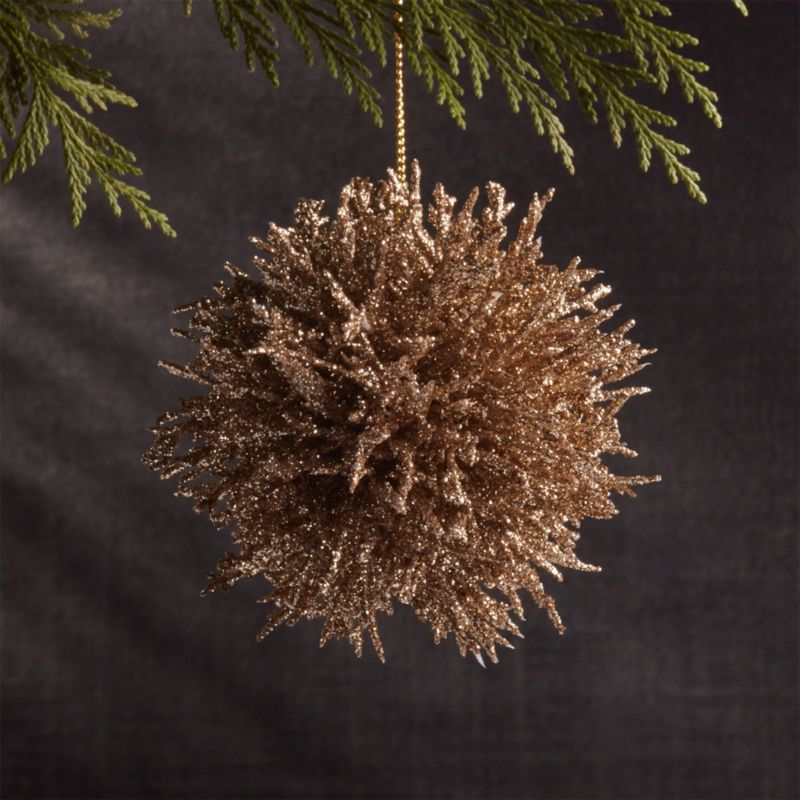 Coral Cluster Gold Ornament Crate And Barrel