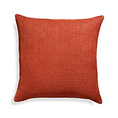 "Cordero Chili Orange 20"" Pillow with Feather-Down Insert"