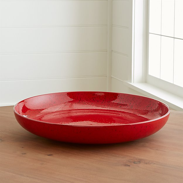 Cormick red large centerpiece bowl crate and barrel