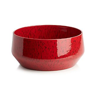 Handmade in Portugal, this planter has a beautiful speckled red glaze and a low angled profile. Fill with sand and succulents, pebbles and bulbs or use as a cachepot for potted plants.