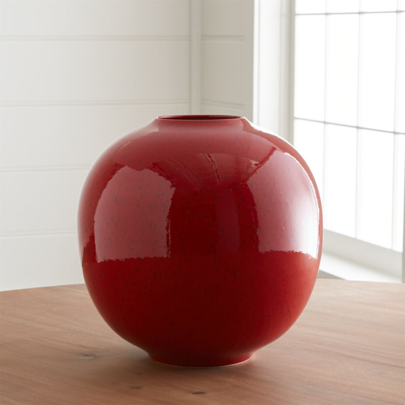Cormick Red Vase