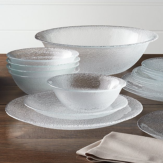 Cotton Clear Dinnerware