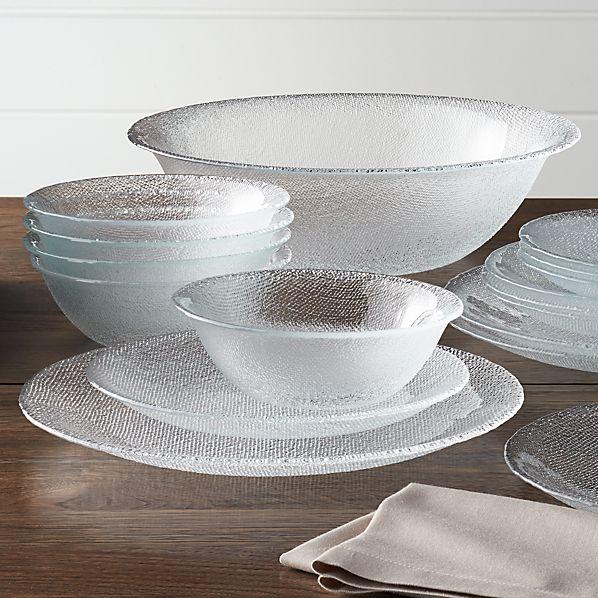 Cotton Clear Dinnerware