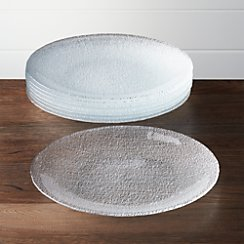 Set of 8 Cotton Clear Dinner Plates