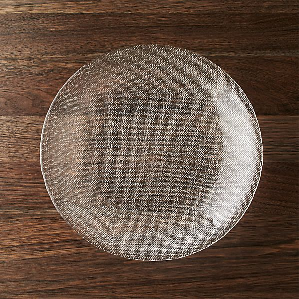 Cotton Clear Dinner Plate
