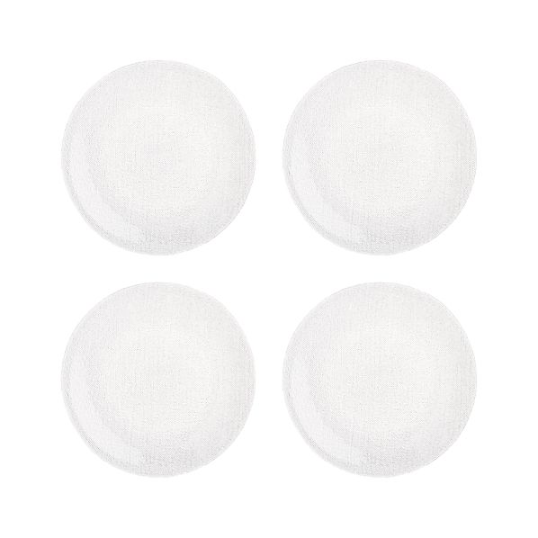 Set of 4 Cotton Clear Dinner Plates