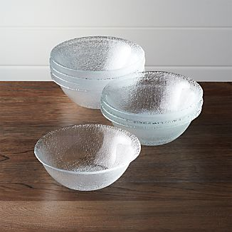 Set of 8 Cotton Clear Bowls
