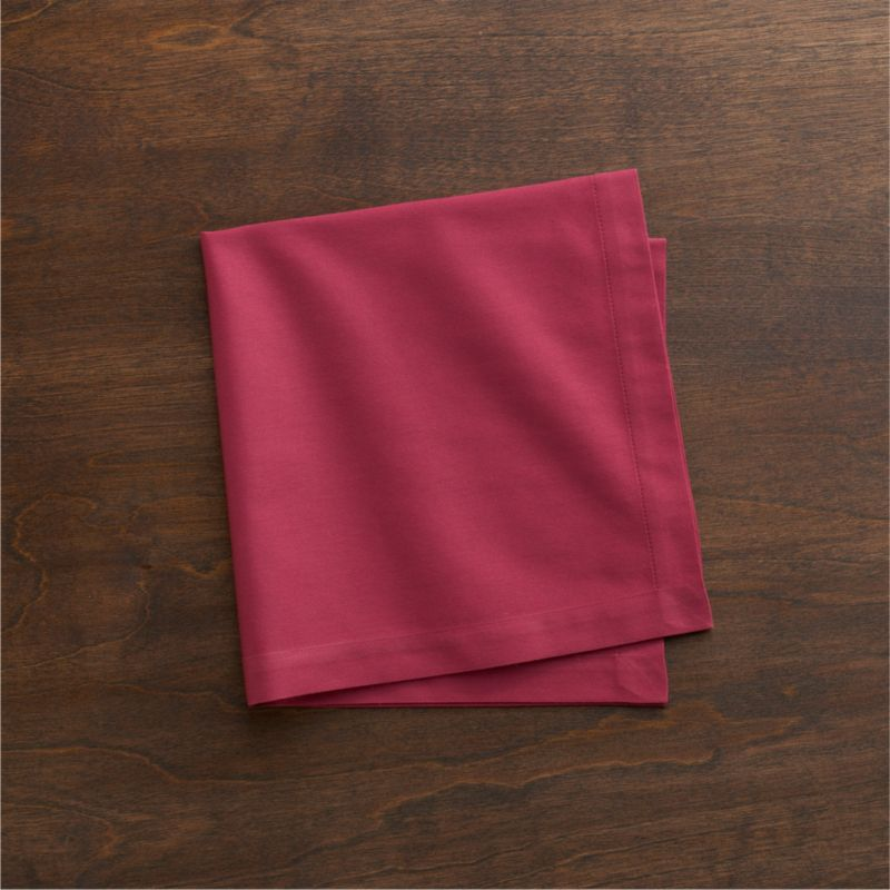 """Lustrous cotton napkin coordinates with any and every table setting. Napkin is tailor finished with 1"""" hem and mitered corners.<br /><br /><NEWTAG/><ul><li>100% cotton</li><li>Machine wash, tumble dry; warm iron as needed</li><li>Made in India</li></ul>"""