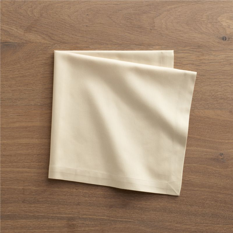 "Lustrous cotton napkin coordinates with any and every table setting. Napkin is tailor finished with 1"" hem and mitered corners.<br /><br /><NEWTAG/><ul><li>100% cotton</li><li>Machine wash; tumble dry, warm iron as needed</li><li>Made in India</li></ul>"