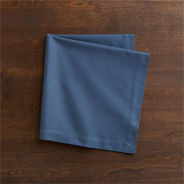 Cotton Smoky Blue Napkin