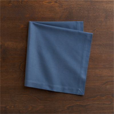 Cotton Smoky Blue Napkin
