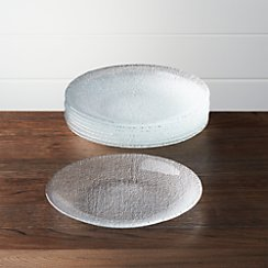 Set of 8 Cotton Clear Salad Plates